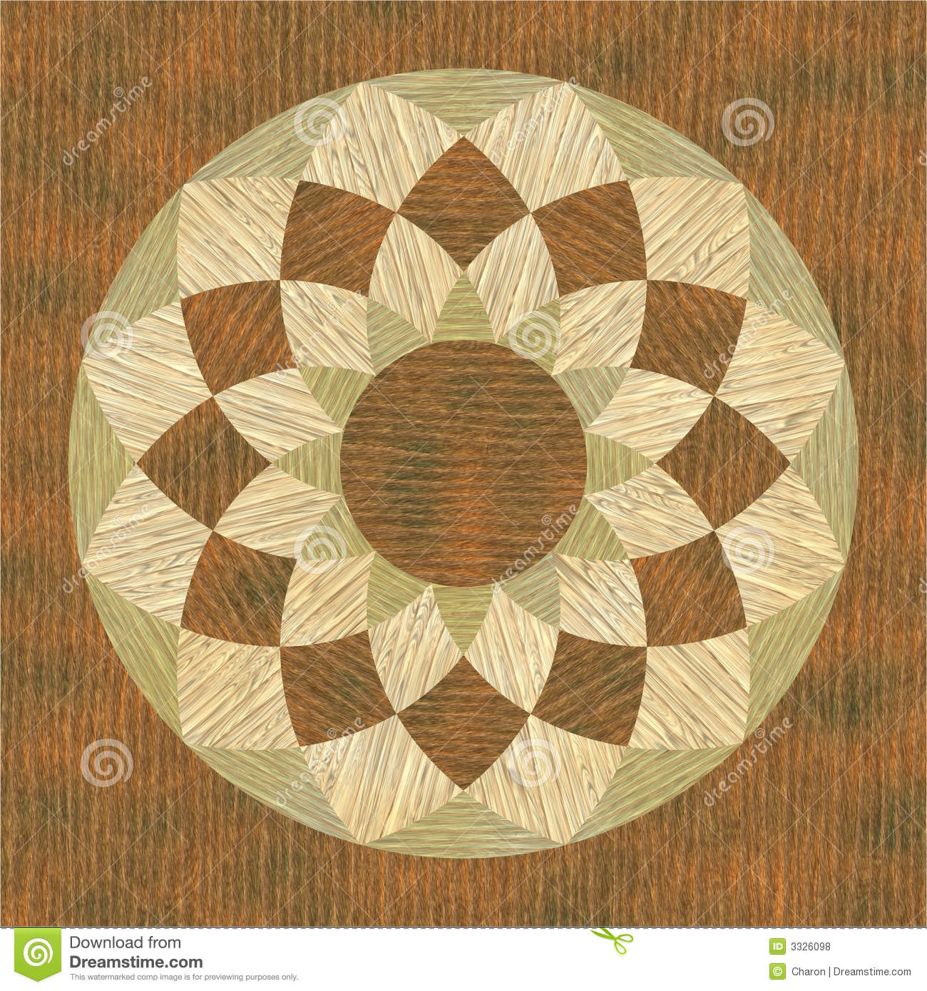 Circular Wooden Pattern Fine Inlay Texture Royalty Free Stock Photos - Image: 3326098