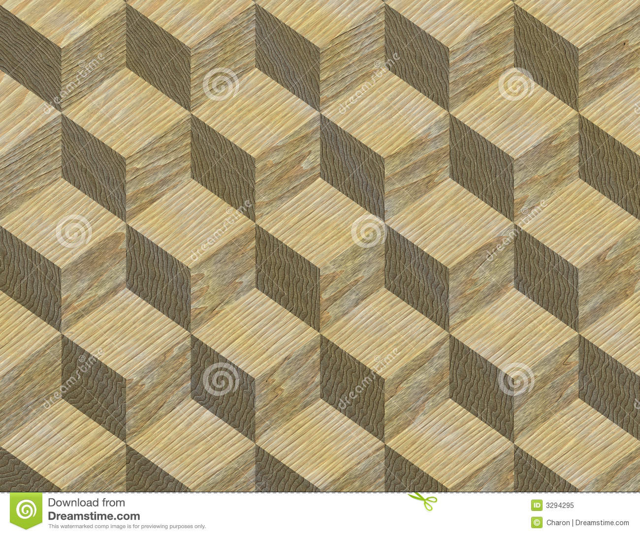 Inlay Wooden Pattern Fine Texture Stock Illustration