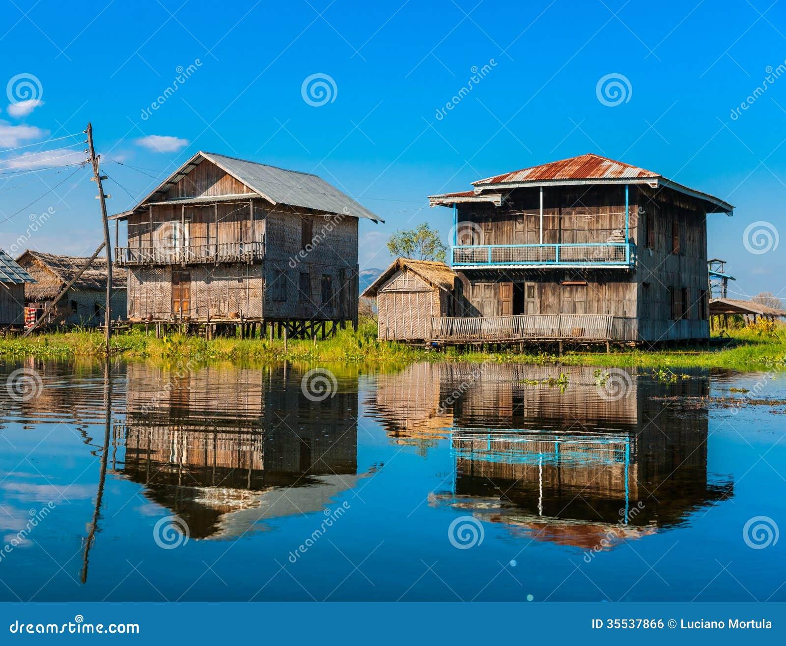 Inle Lake Myanmar Royalty Free Stock Image Image 35537866
