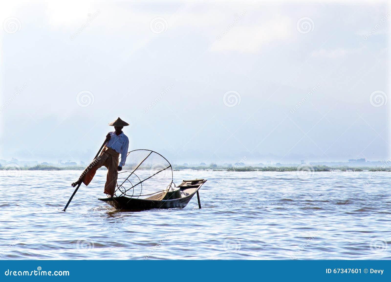 Inle Lake Fisherman Editorial Image - Image: 92338150