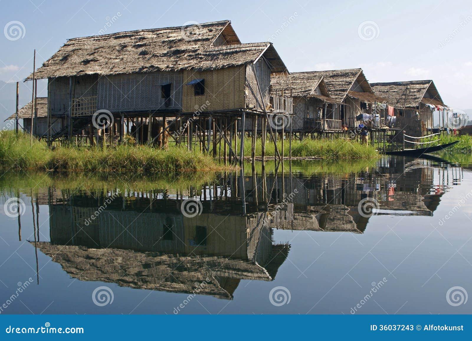Inlemeer, Myanmar, Azië