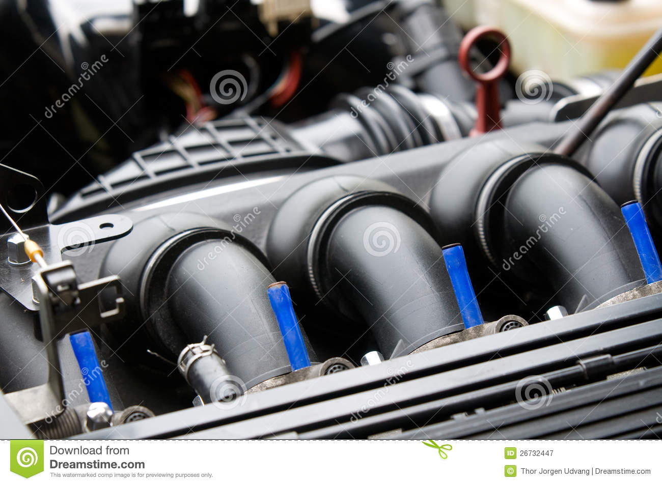 inlet manifold of car engine royalty free stock photography