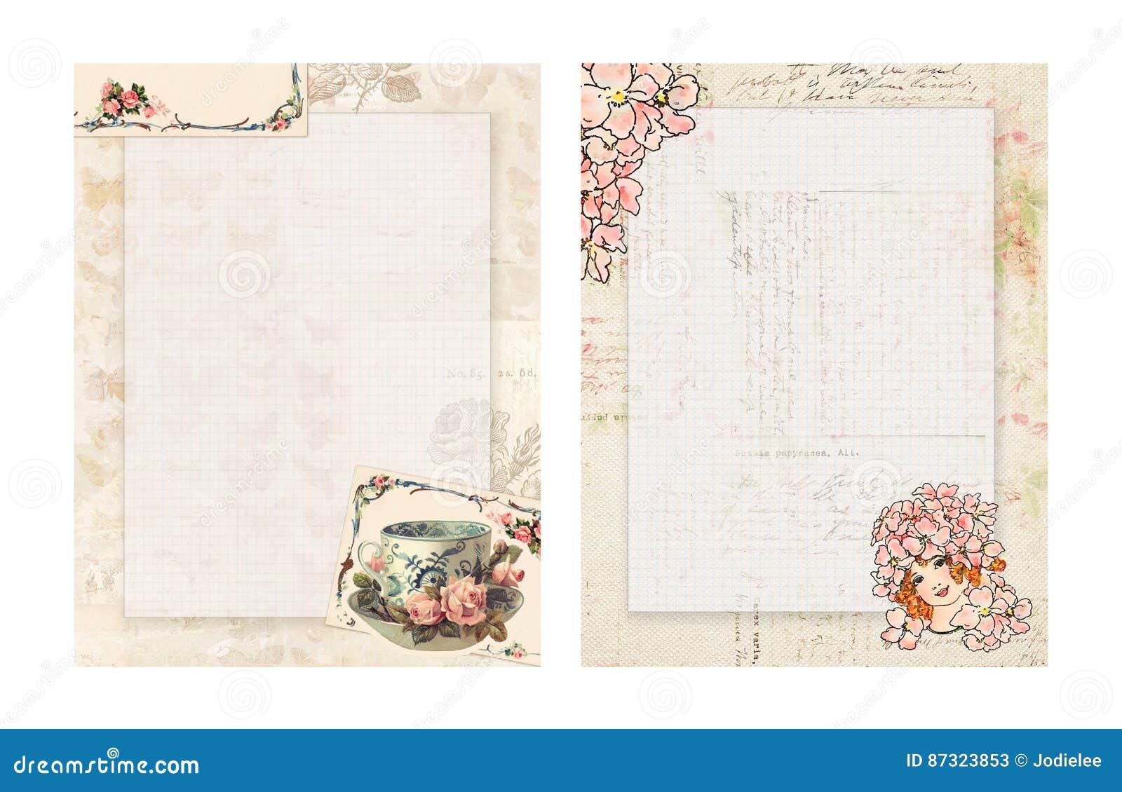 Inmóvil Floral Del Estilo Elegante Lamentable Imprimible Del Vintage ...