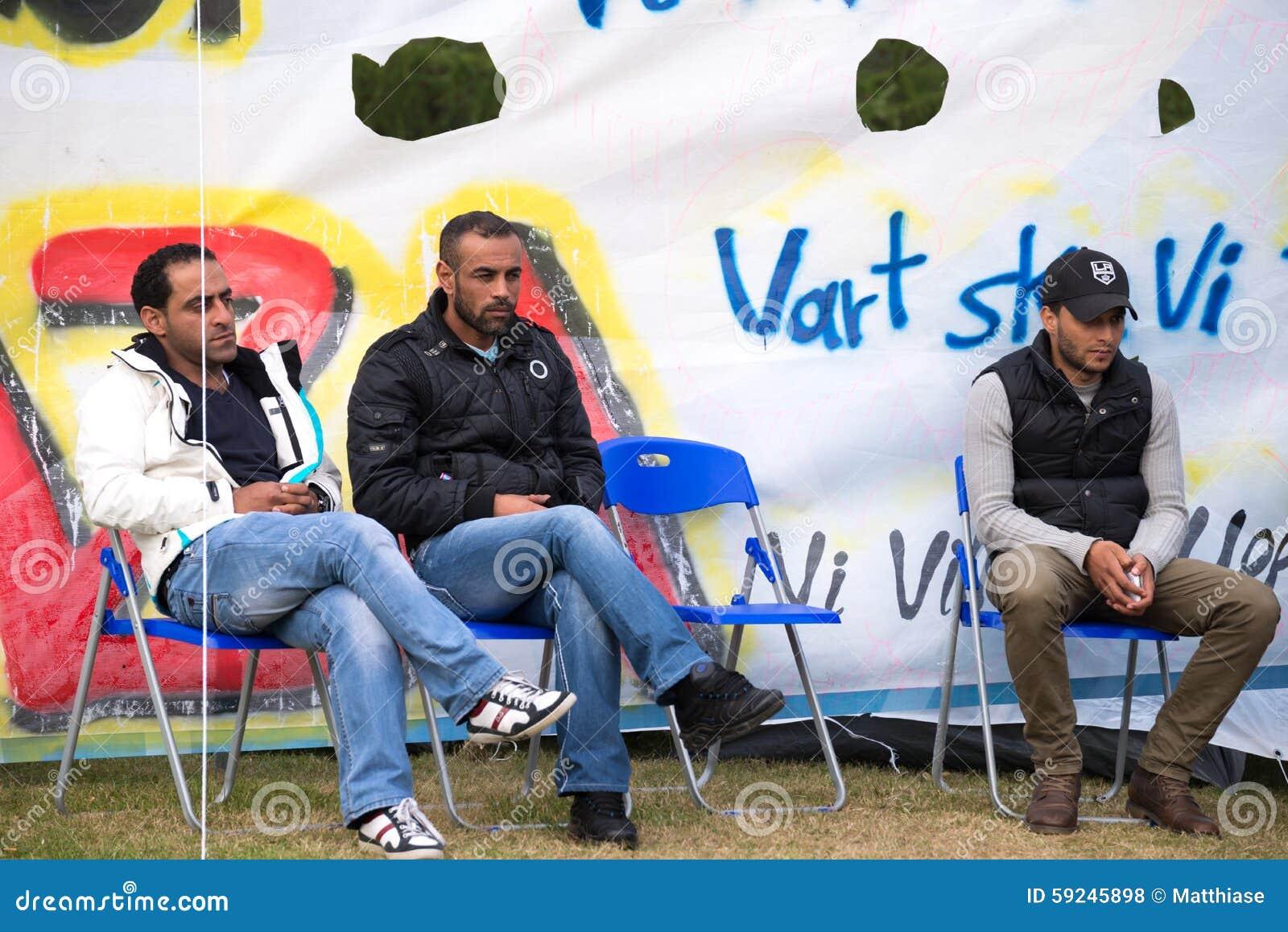 Download Inmigrantes De Gaza - Suecia 2015 Foto de archivo editorial - Imagen de caridad, ilegal: 59245898