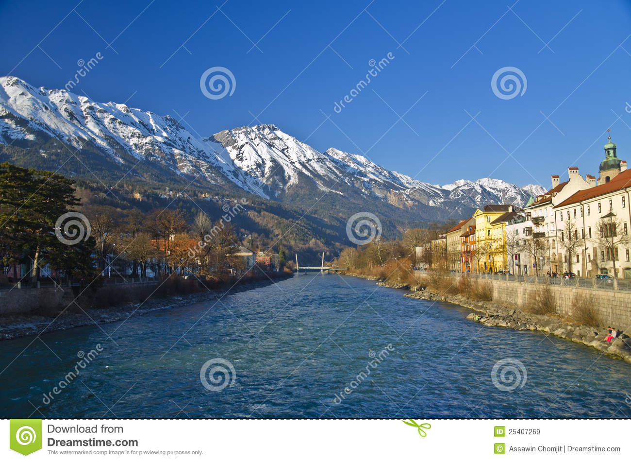 Inn river and city at Innsbruck