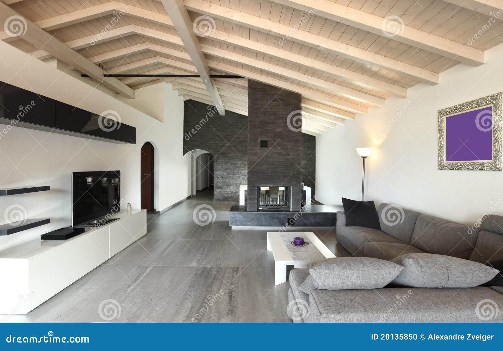 Turbo Innen-, großes Wohnzimmer stockfoto. Bild von innen, perspektive HI31