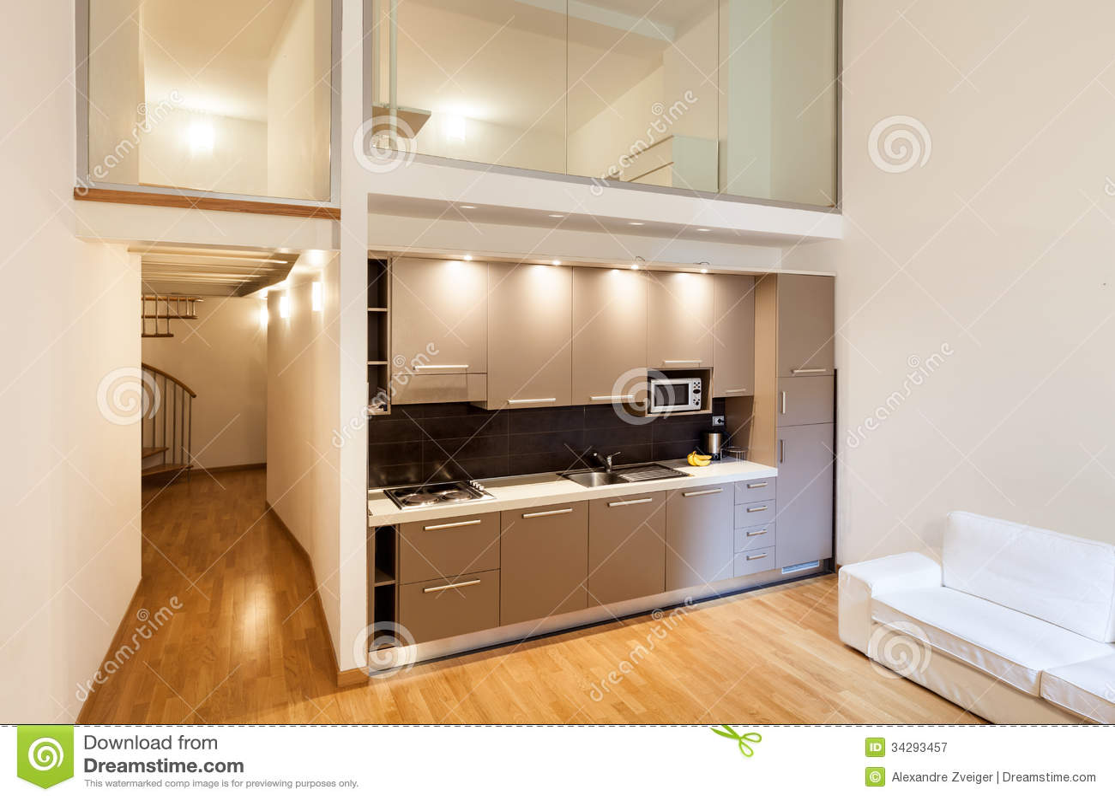 Innen Schöne Wohnung Stockbild Bild Von Liegesofa 34293457