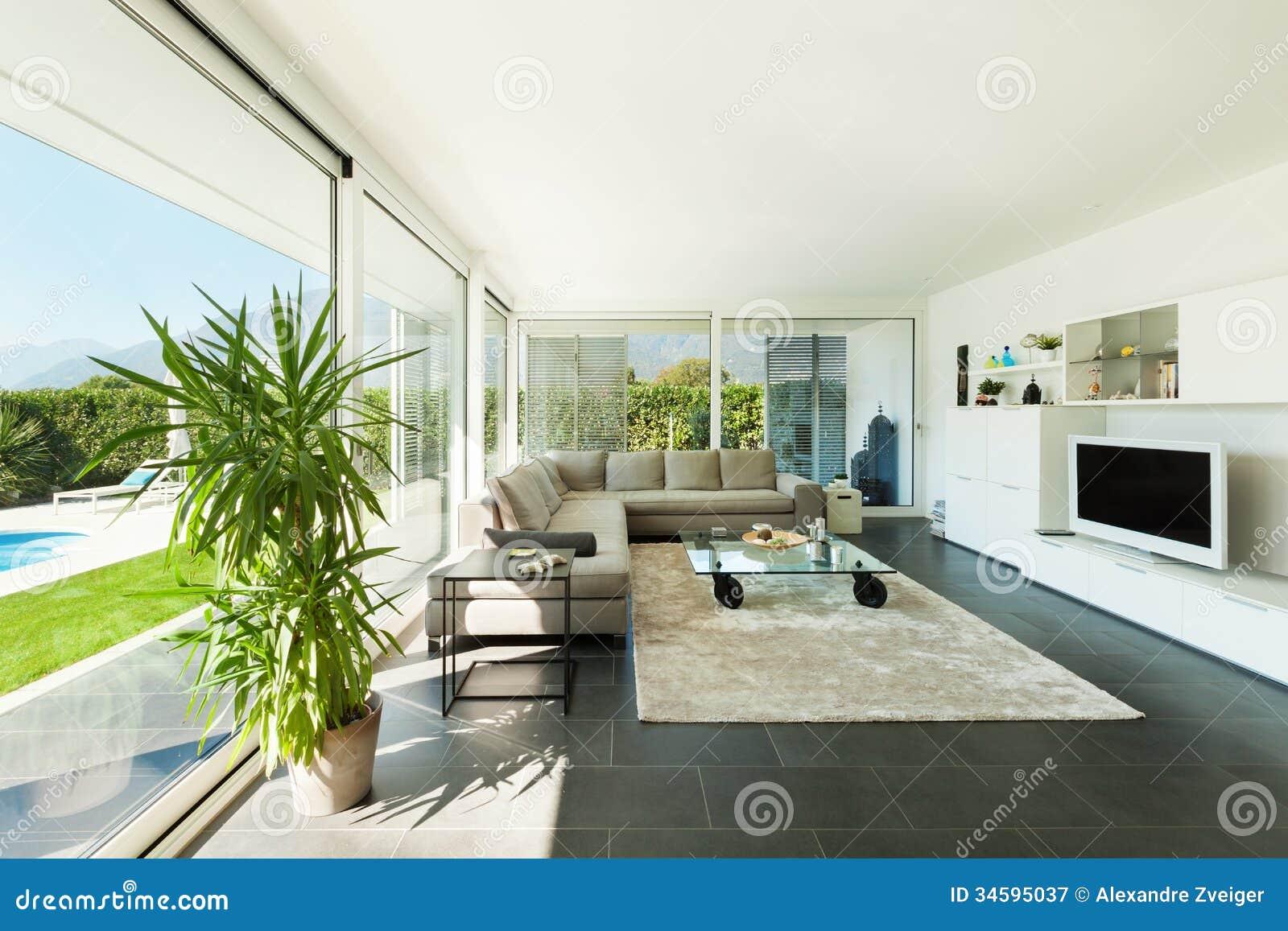 Modernes Landhaus, Innenraum, Schönes Wohnzimmer
