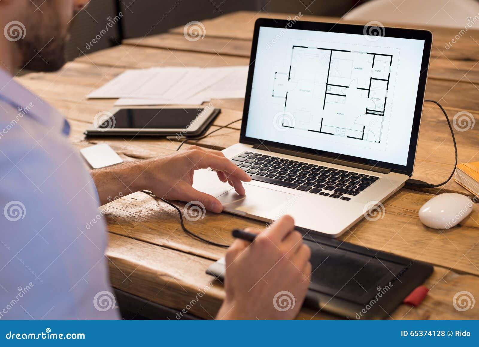 Innenarchitekt  Innenarchitekt Bei Der Arbeit Stockfoto - Bild: 65374128