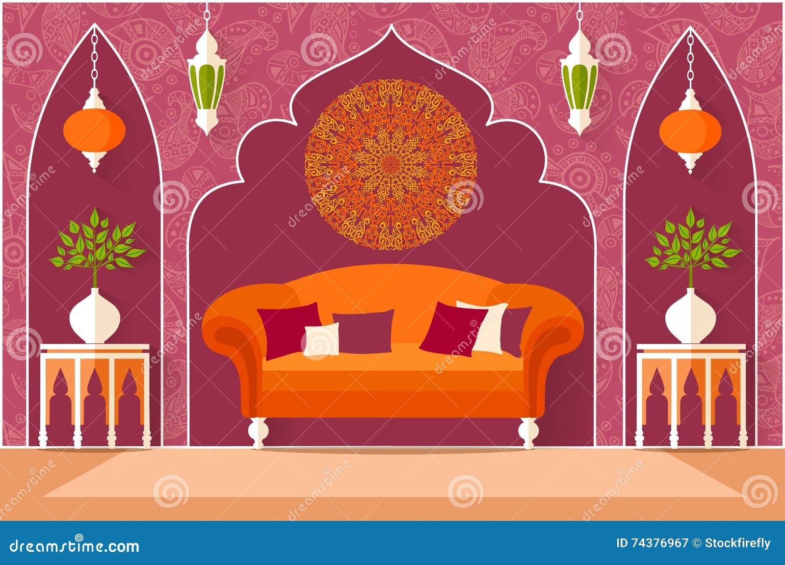 Innenarchitektur In Der Arabischen Art Auch Im Corel Abgehobenen ...