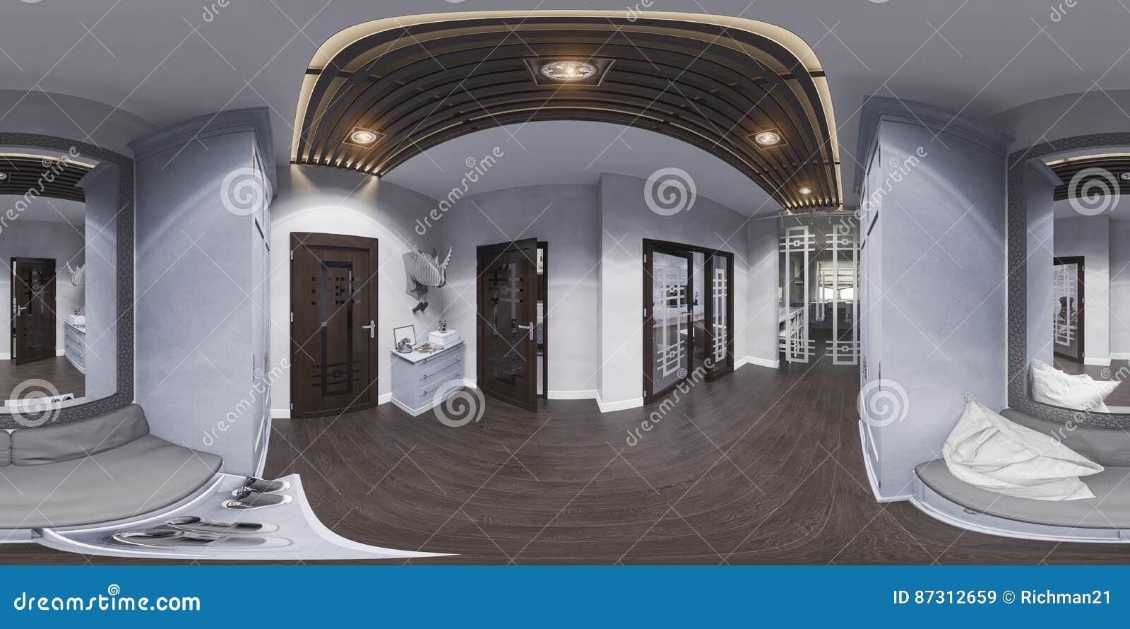 innenarchitektur der halle der illustration 3d in der klassischen, Innenarchitektur ideen