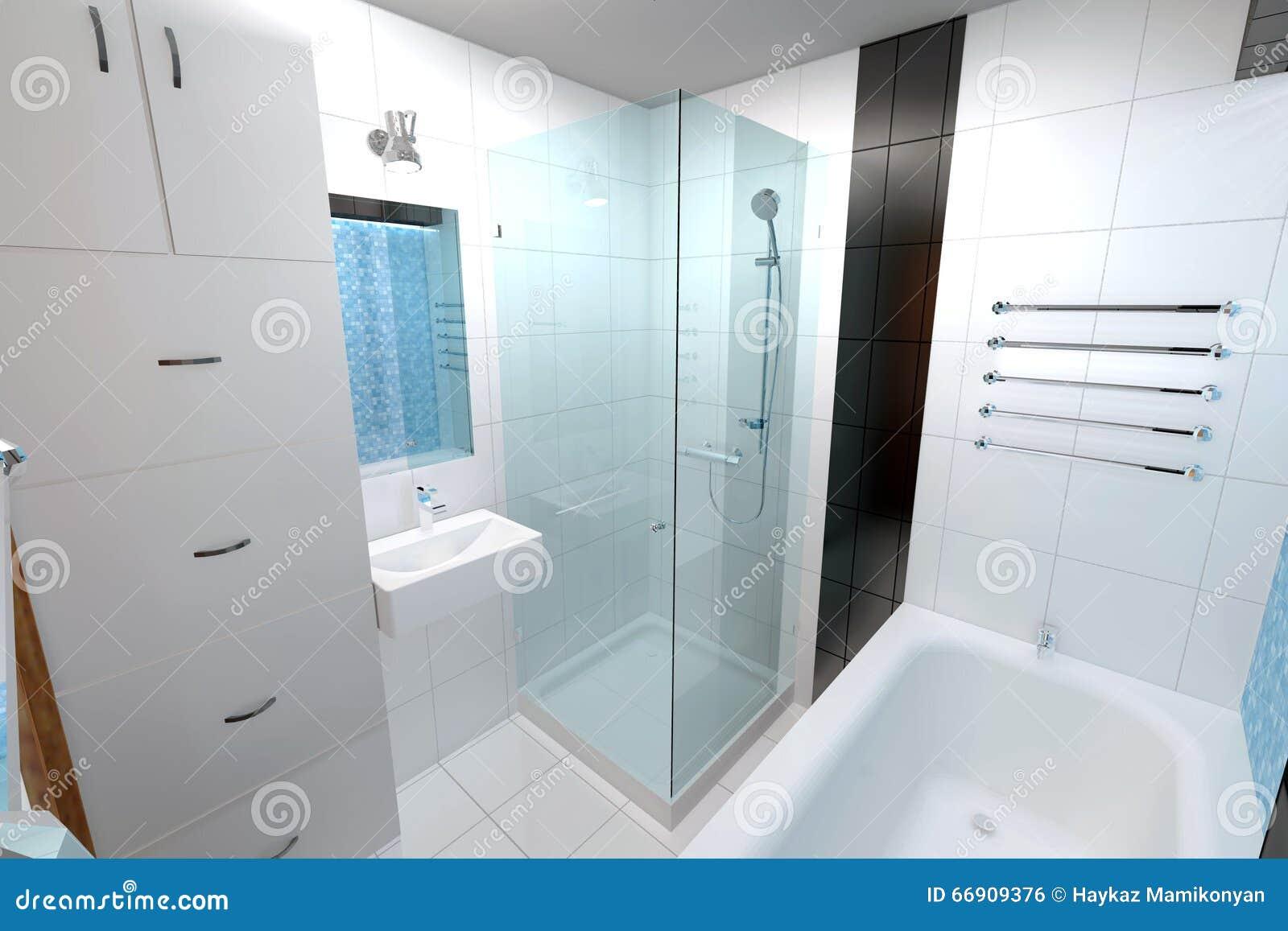 Innenarchitektur Des Badezimmers Stock Abbildung - Illustration von ...
