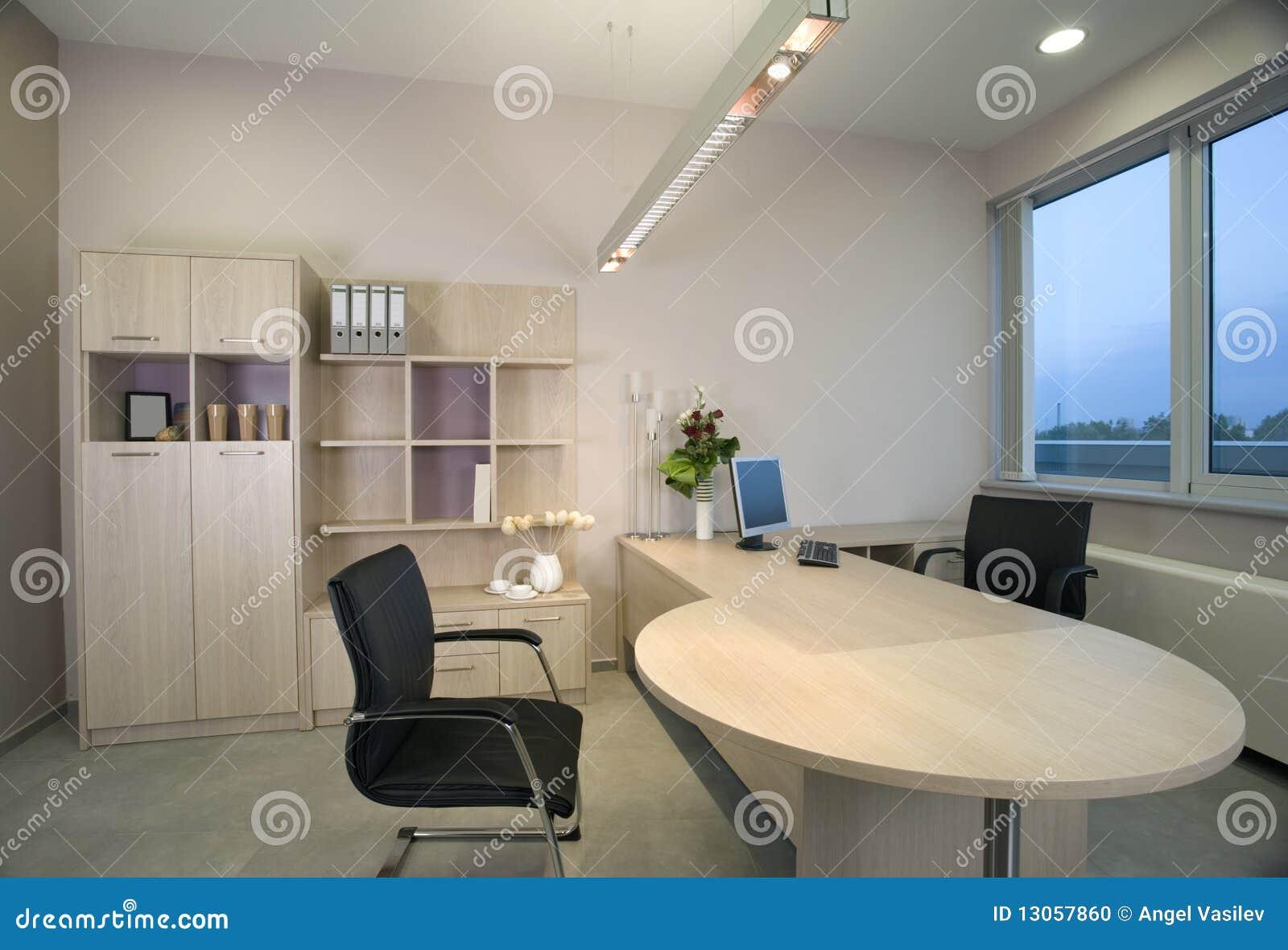 Innenarchitektur Des Schönen Und Modernen Büros. Stockfoto - Bild ...