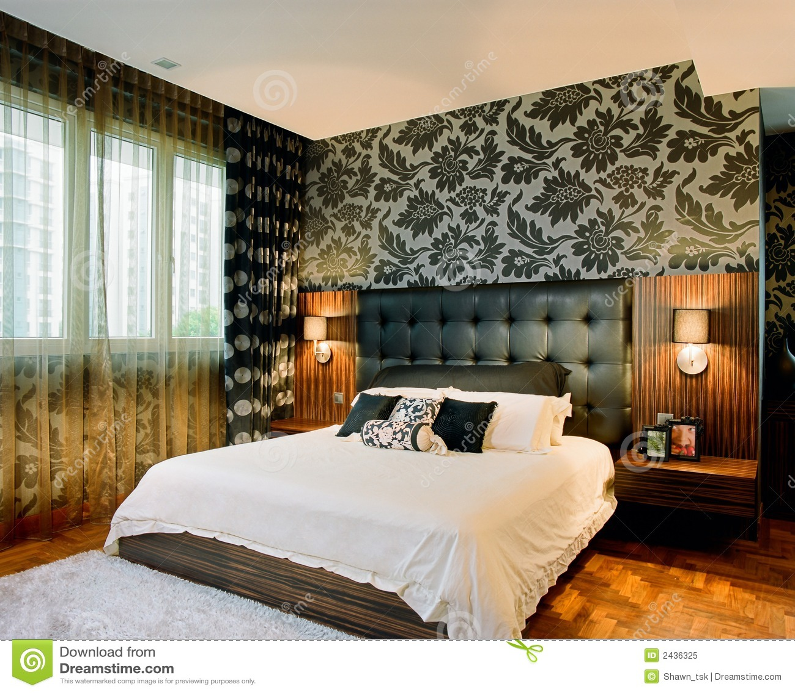 innenarchitektur schlafzimmer stockbild bild 2436325. Black Bedroom Furniture Sets. Home Design Ideas
