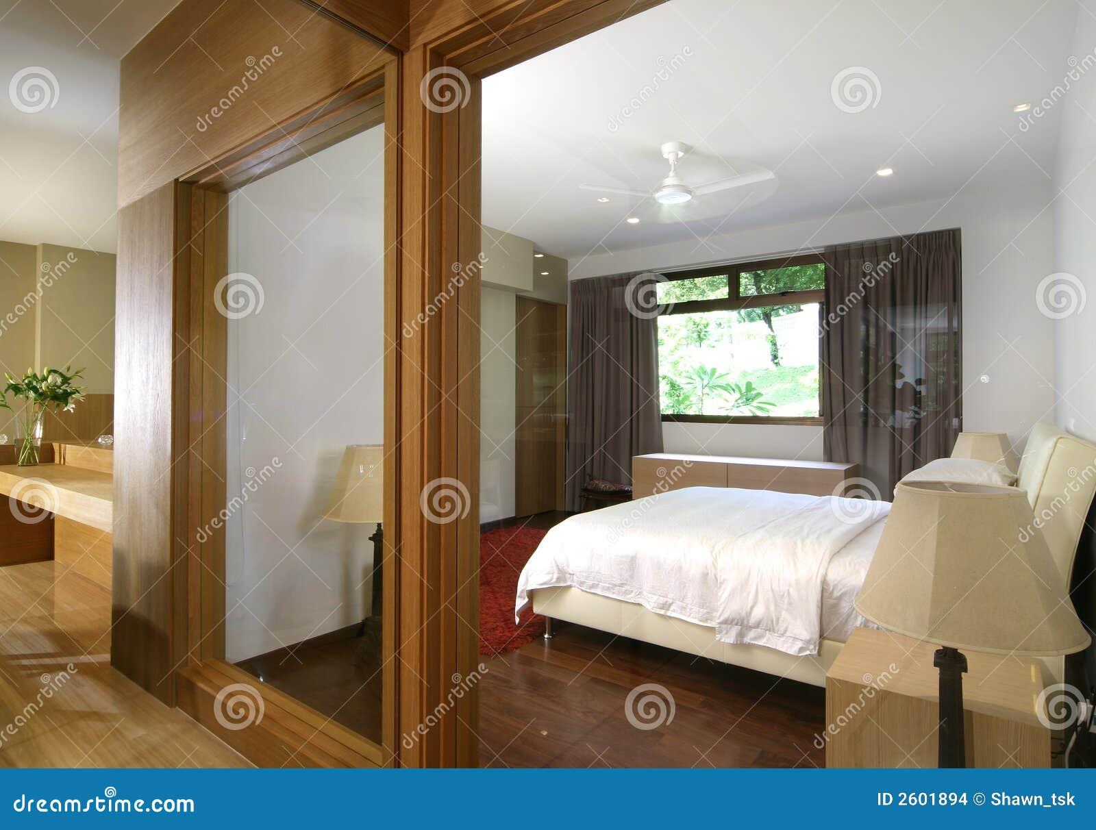 Innenarchitektur - Schlafzimmer Stockfoto - Bild von türen ...