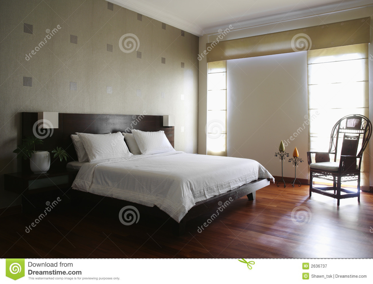 innenarchitektur schlafzimmer lizenzfreie. Black Bedroom Furniture Sets. Home Design Ideas