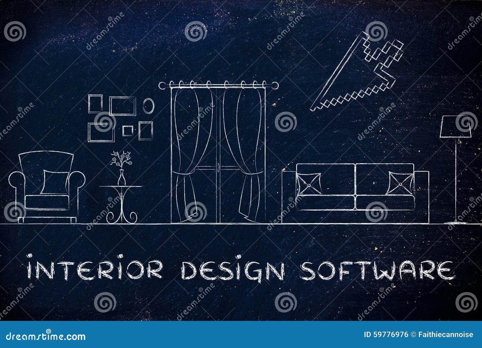 Innenarchitektur Computerprogramm innenarchitektur software stockfoto bild entwerfer 59776976