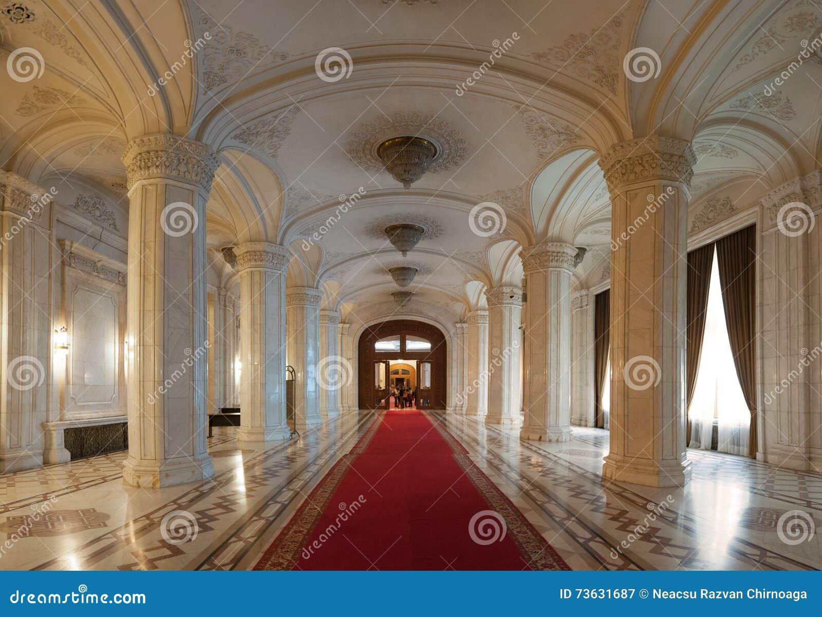 Innenaufnahme mit dem Palast des Parlaments