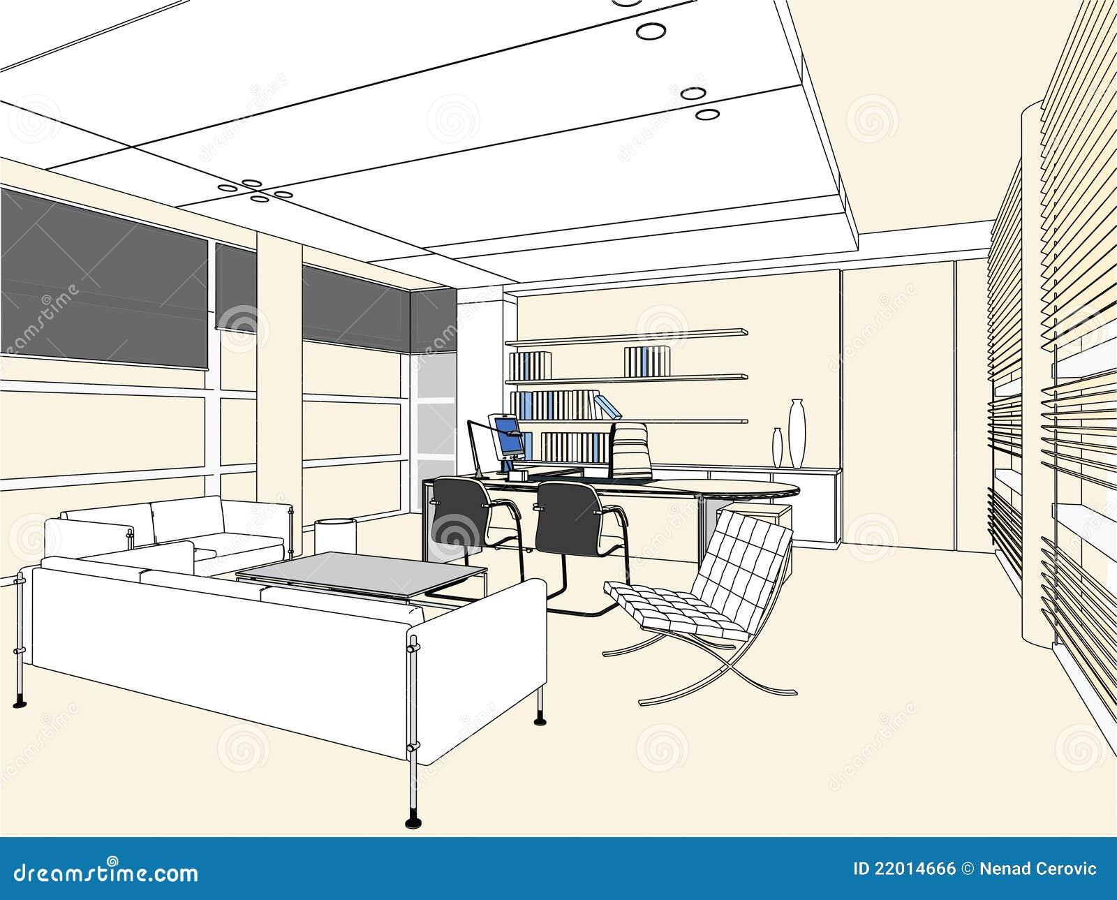 Innenbüro-Raum-Vektor 03
