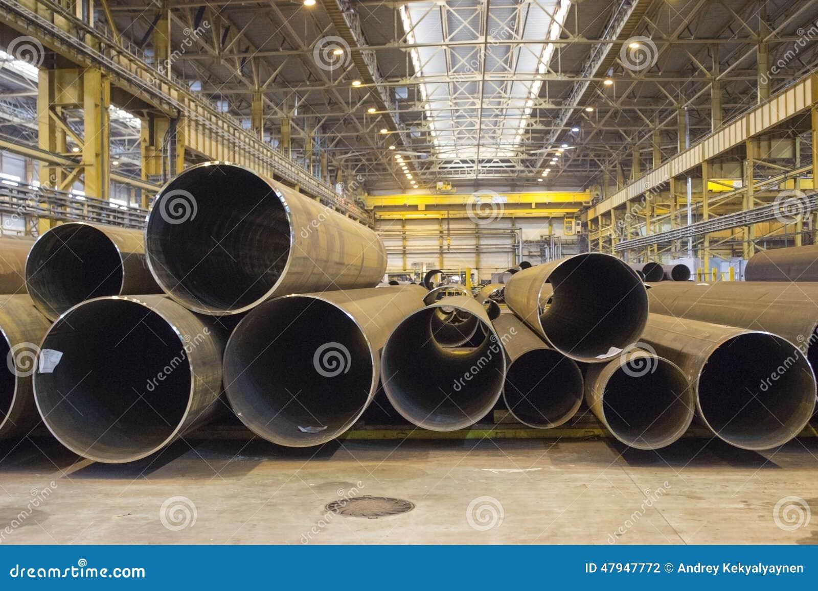 Innenlagerung mit Stahlrohren, Betriebswerkstatt