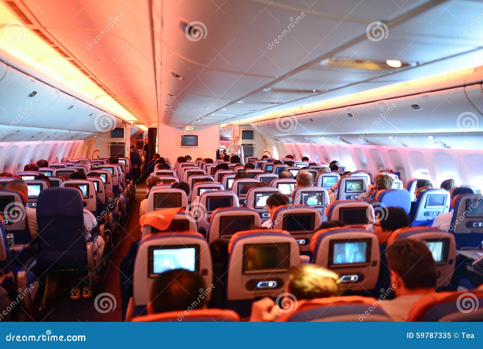 Innenraum aeroflots boeing 777 redaktionelles bild bild for Interieur boeing 777