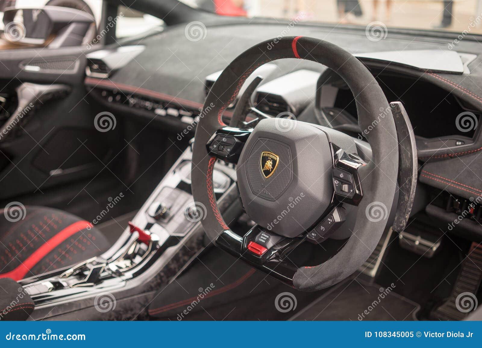 Innenraum Armaturenbrett Lamborghinis Huracan Lp640 Performante