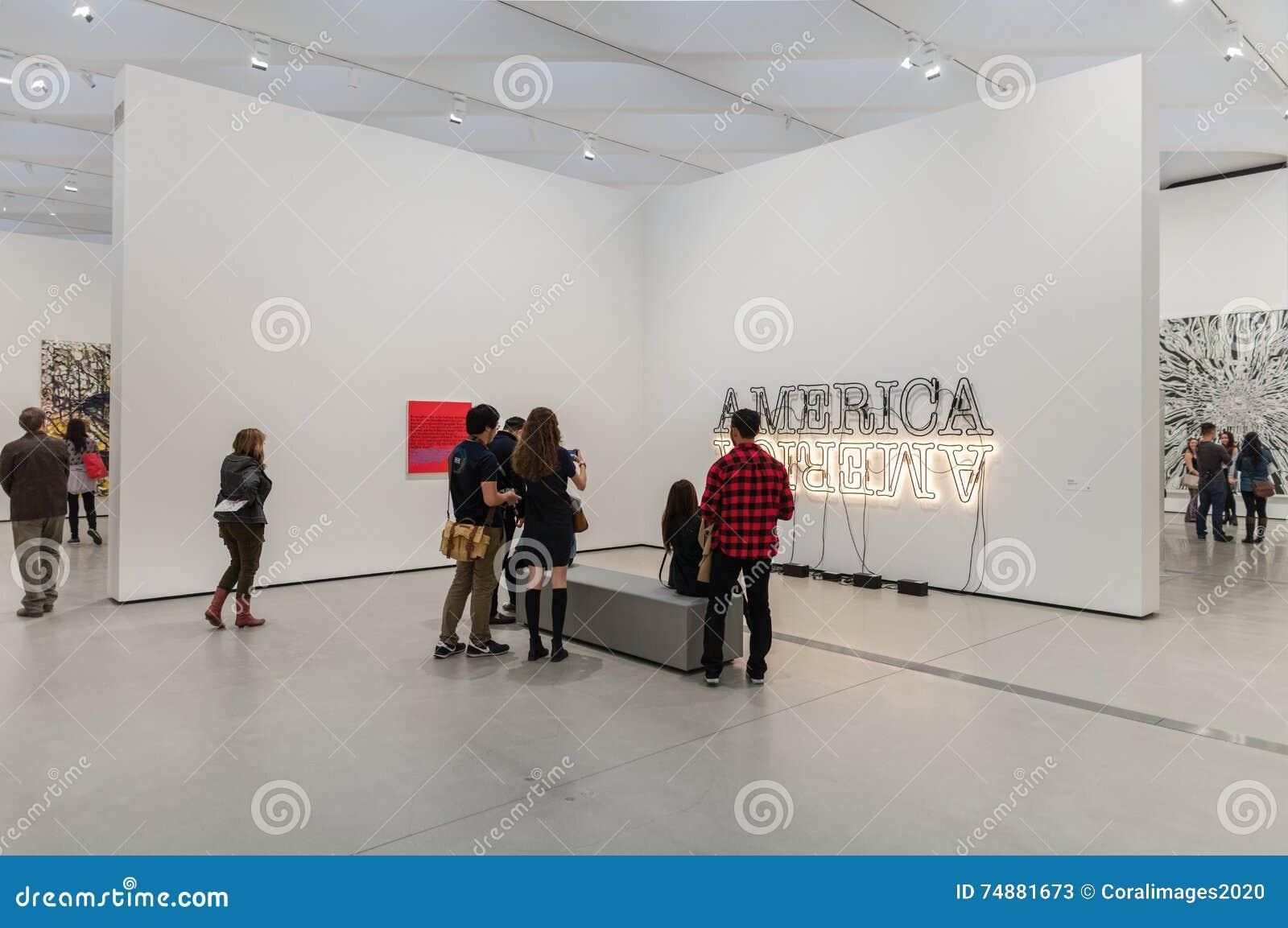Innenraum breiten zeitgenössischen Art Museums