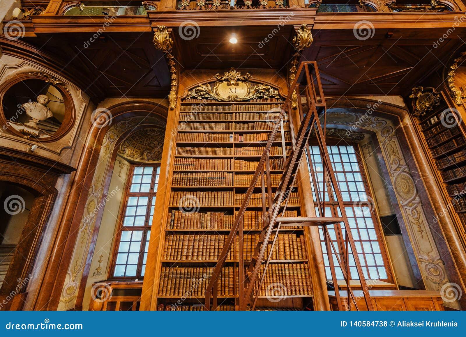 Innenraum der österreichischen Nationalbibliothek