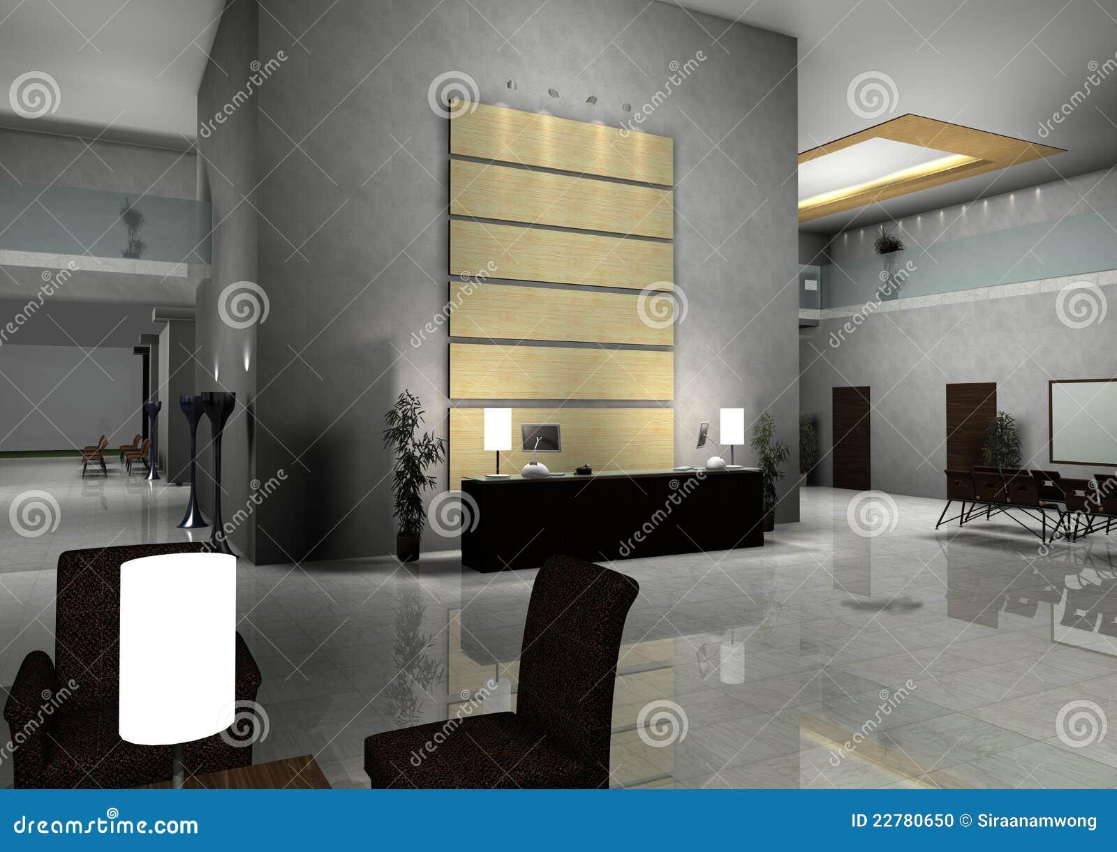 Innenraum der modernen auslegung der halle flur stock abbildung