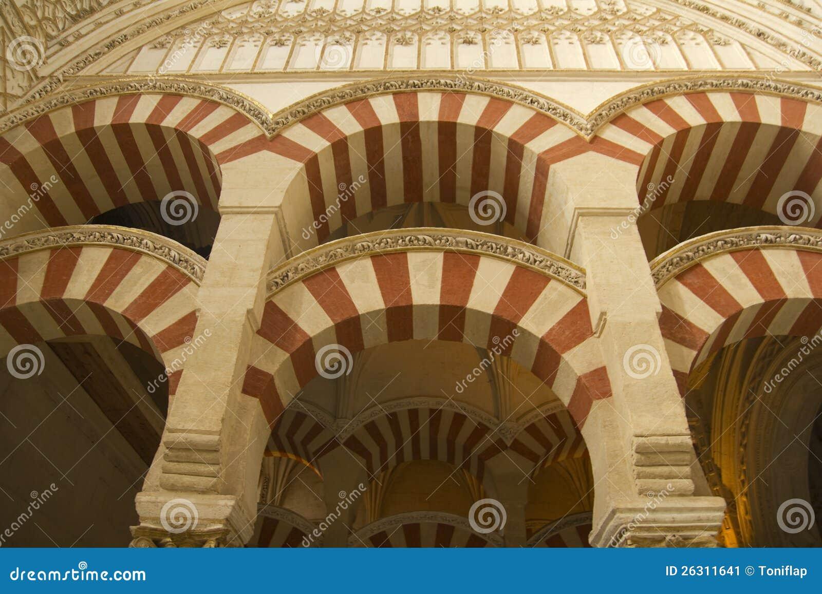 Innenraum der moschee cordoba andalusien spanien for Dekoration spanien