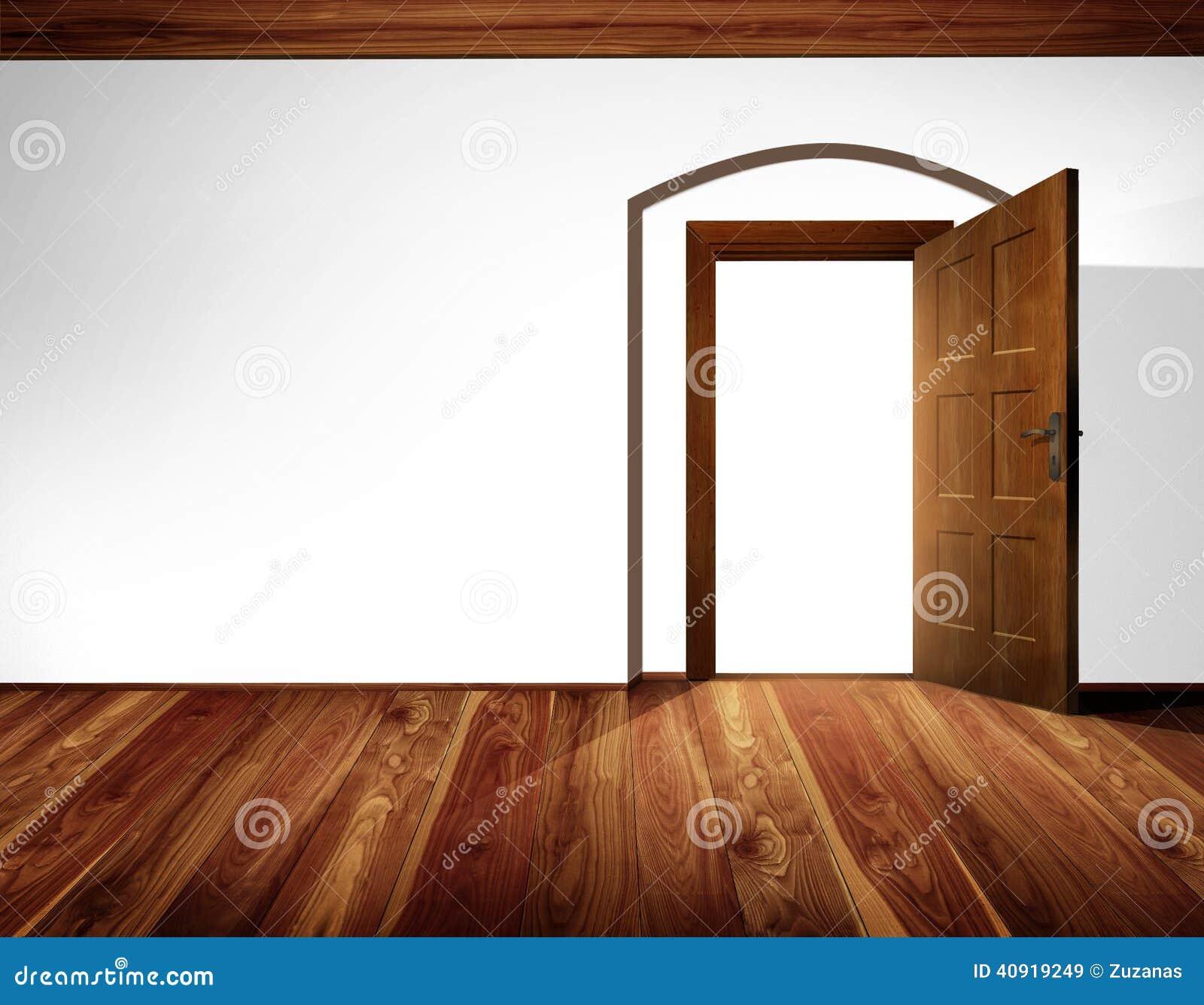 Innenraum der offenen Tür