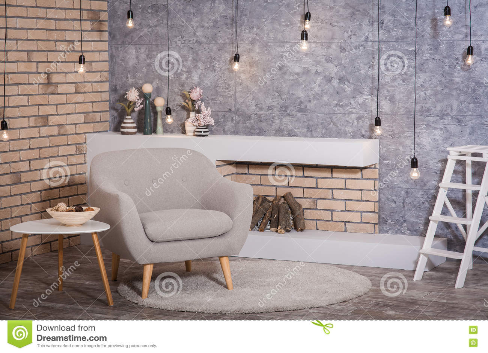 Innenraum Der Skandinavischen Art Stockbild - Bild von dekor ...