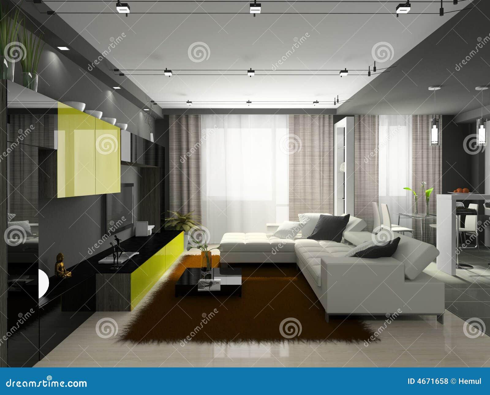 Innenraum der stilvollen wohnung lizenzfreie stockfotos for Innenraum designer