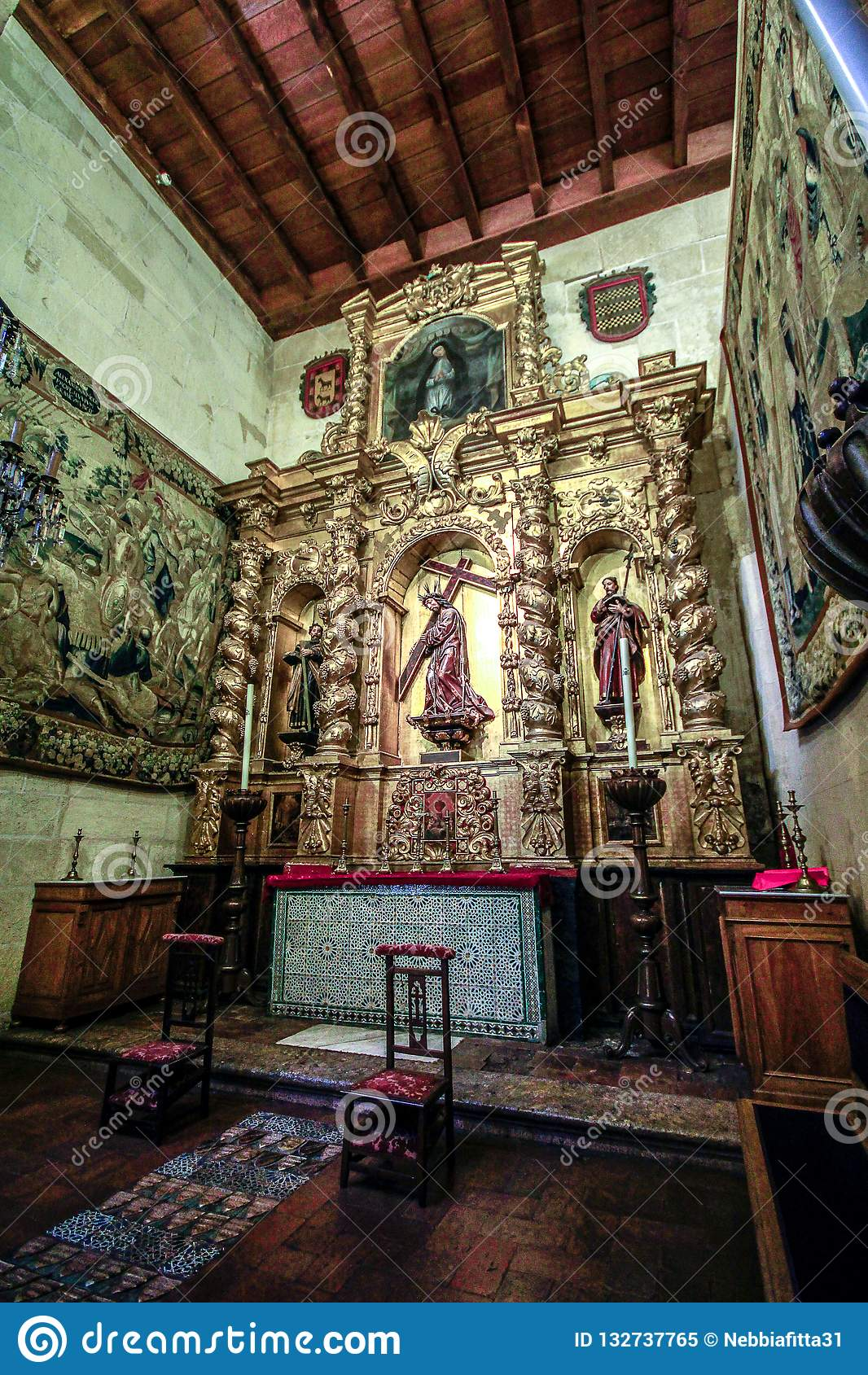 Innenraum der Synagoge in Cordoba, Andalusien, Spanien