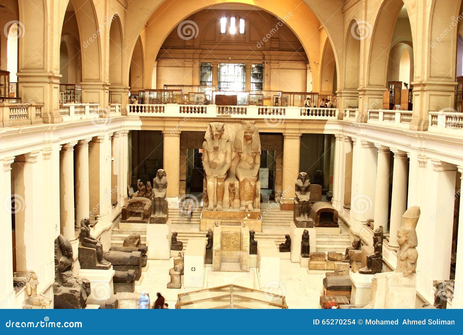 Innenraum des Haupt- Halls, das Museum von ägyptischen Antiquitäten ...