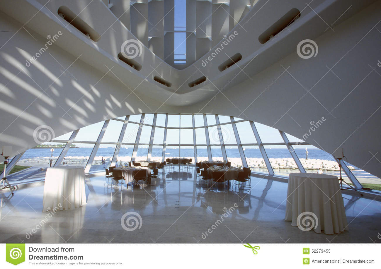 Innenraum des Milwaukee Art Museum auf Michigansee, Milwaukee, WI