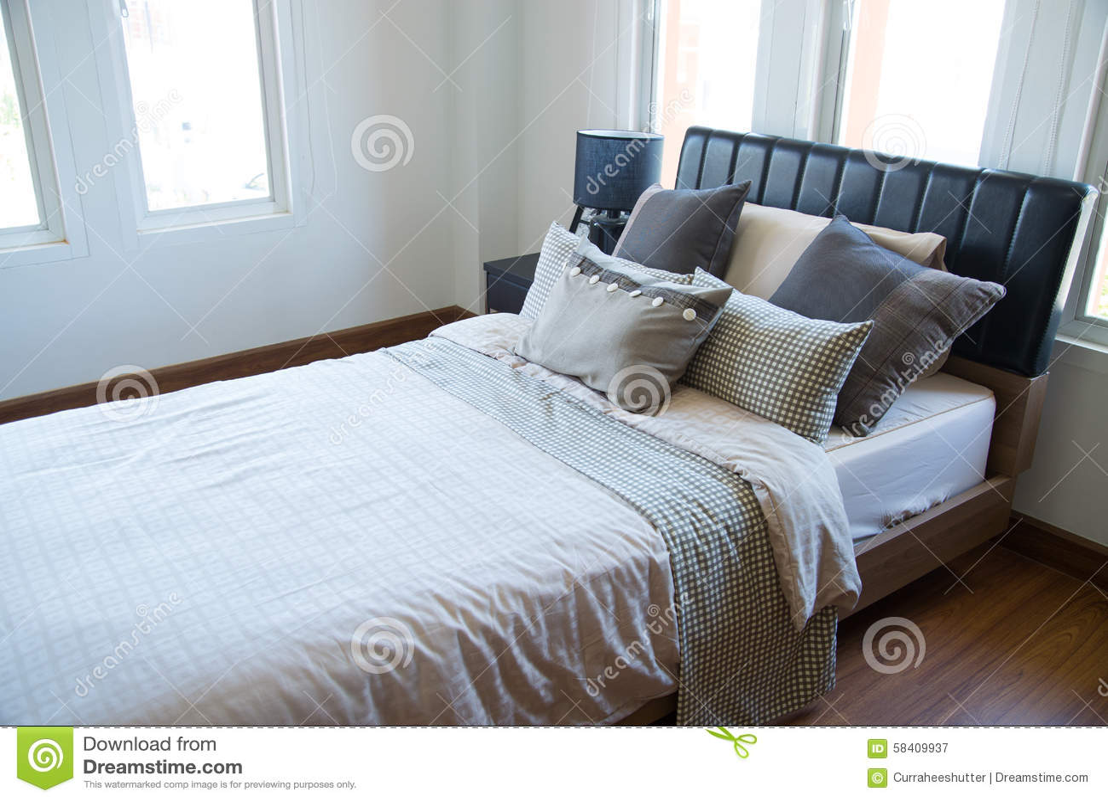 Innenraum Des Modernen Raumes Oder Des Bettraumes, Klassisches  Luxusschlafzimmer Mit Dekoration, Modernes Schlafzimmer Mit
