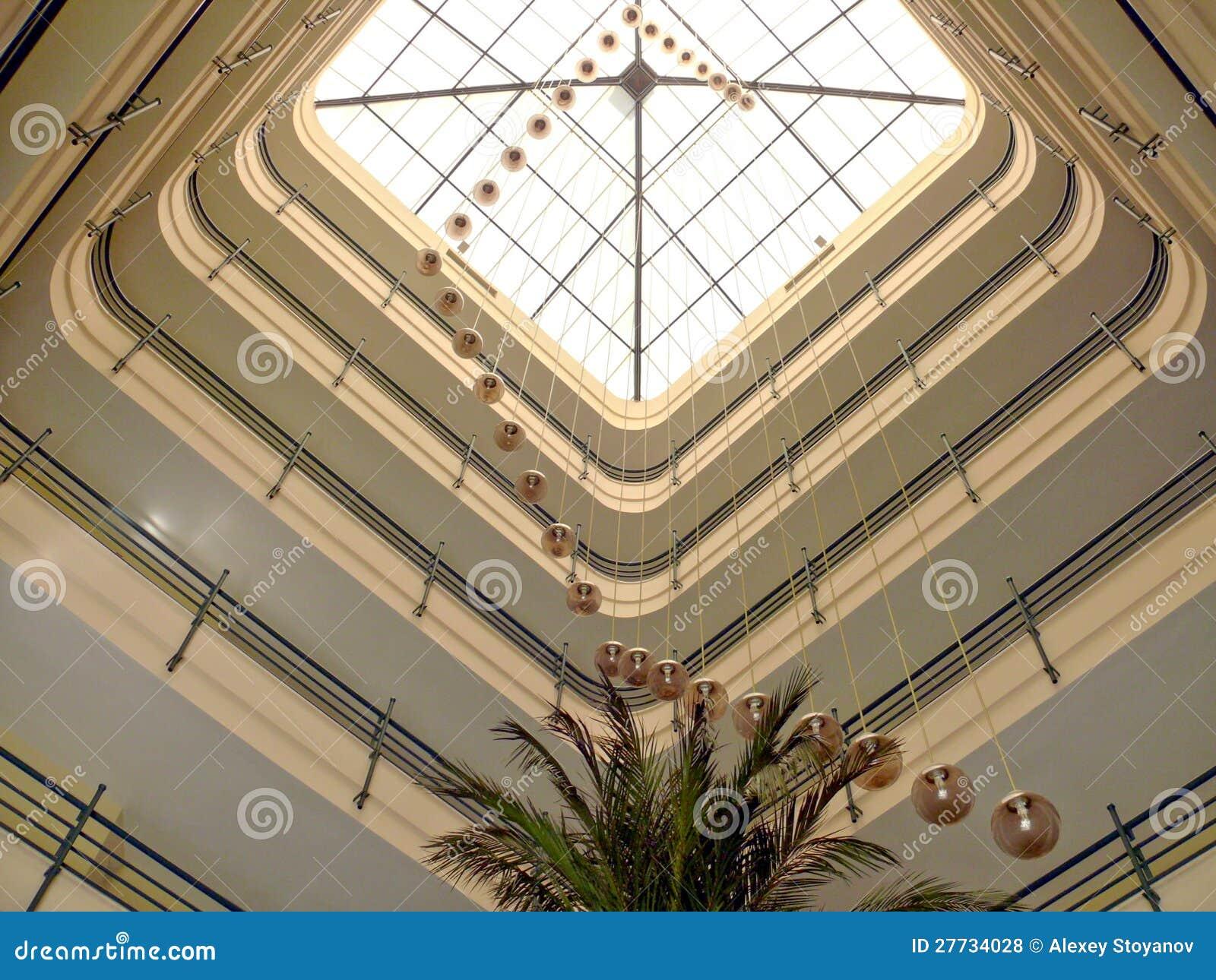 Innenraum einer Hotelvorhalle