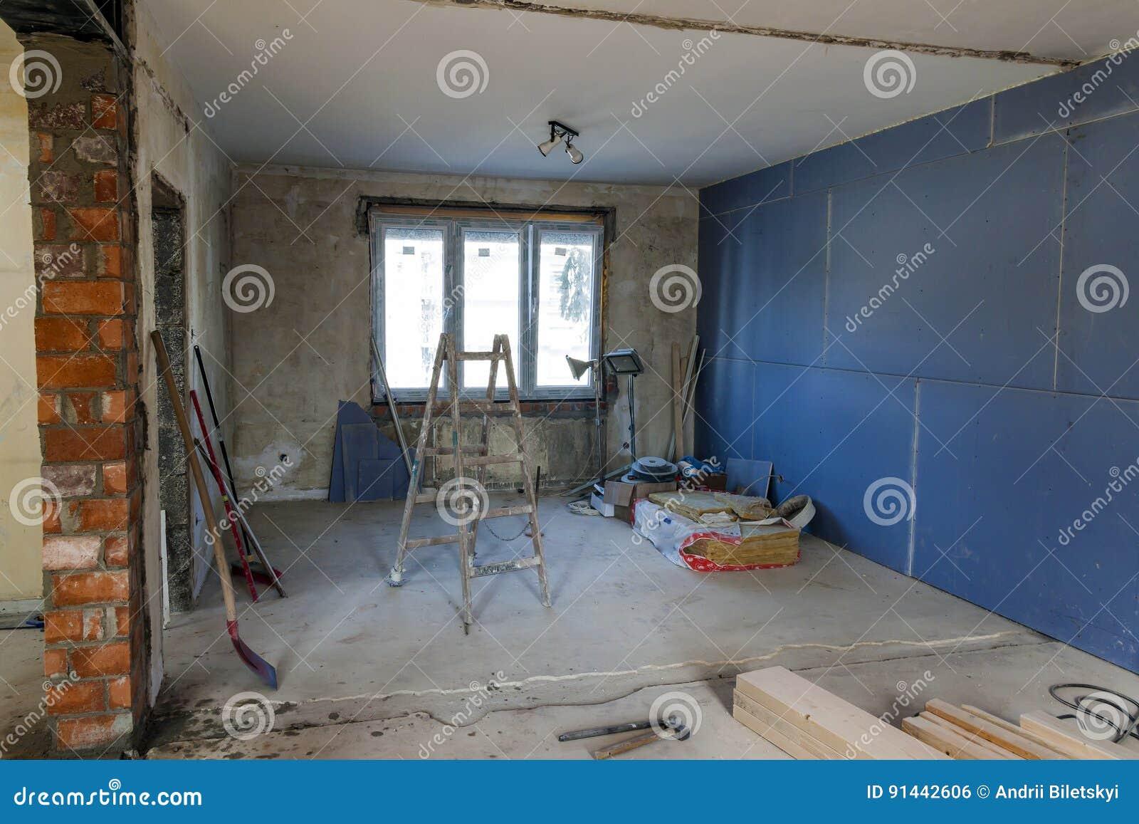 Innenraum eines Hauses im Bau Erneuerung eines apartme