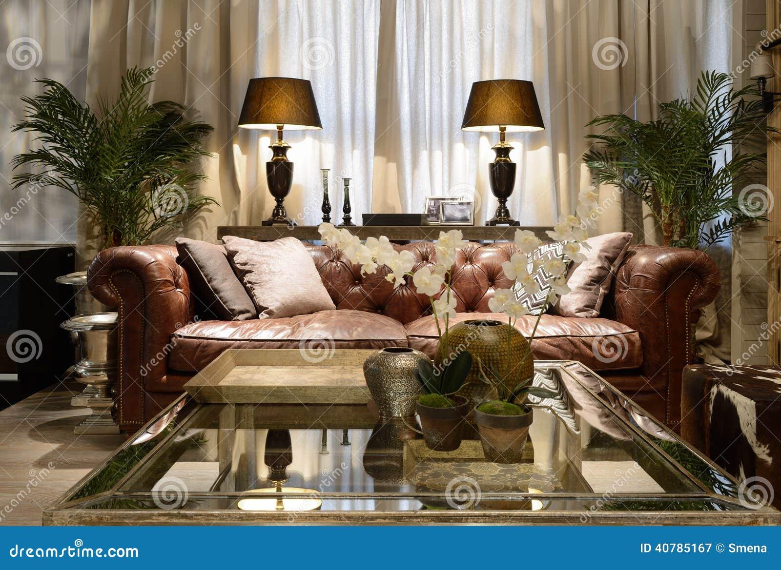 Innenraum eines Luxuswohnzimmers