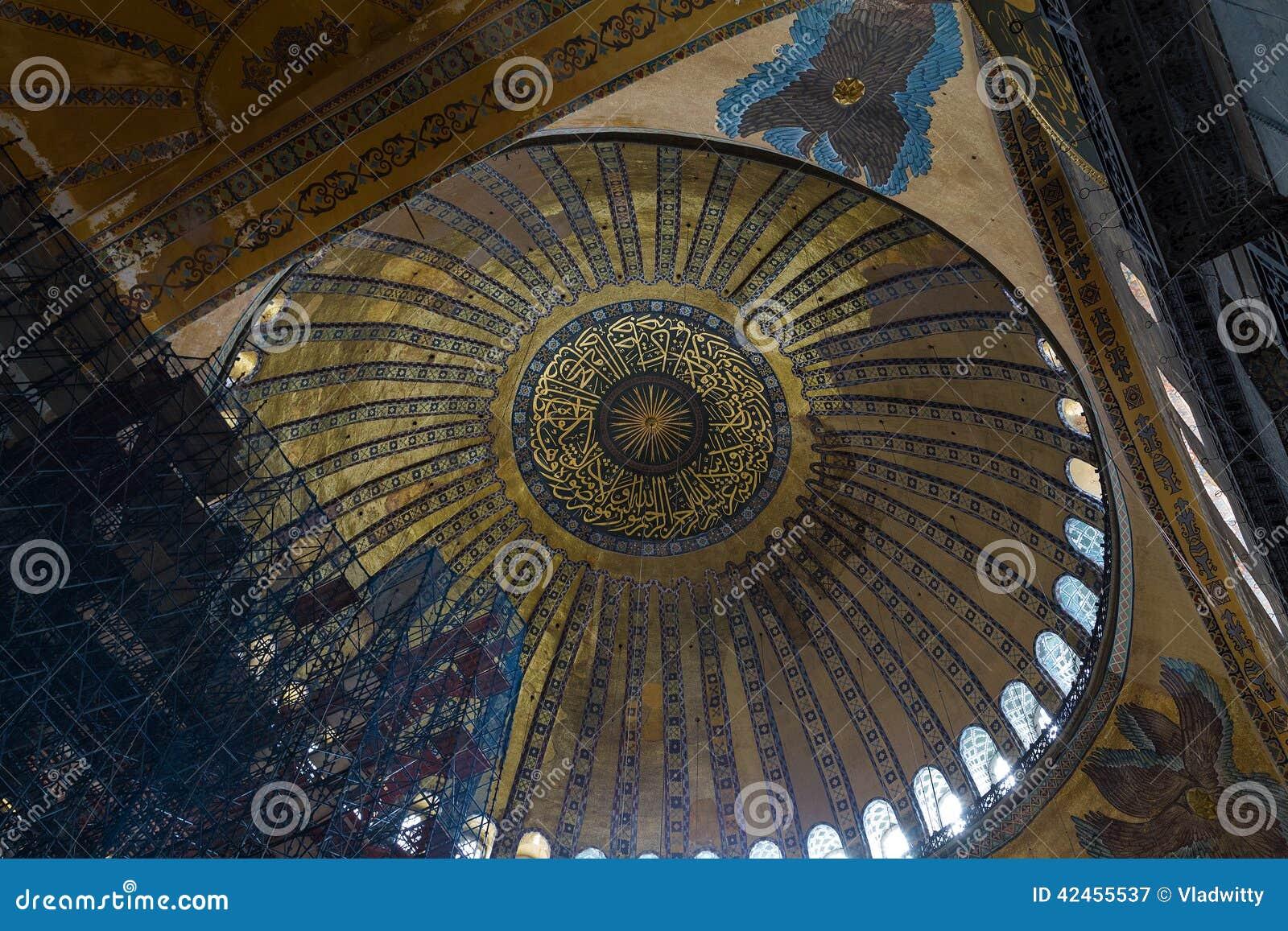 Innenraum Hagia Sophia in Istanbul, die Türkei