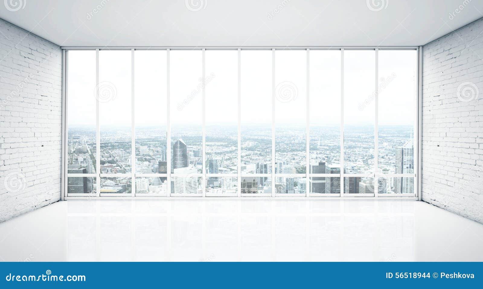 Fenster innenraum  Innenraum Mit Fenster Zur Stadt Stockfoto - Bild: 56518944