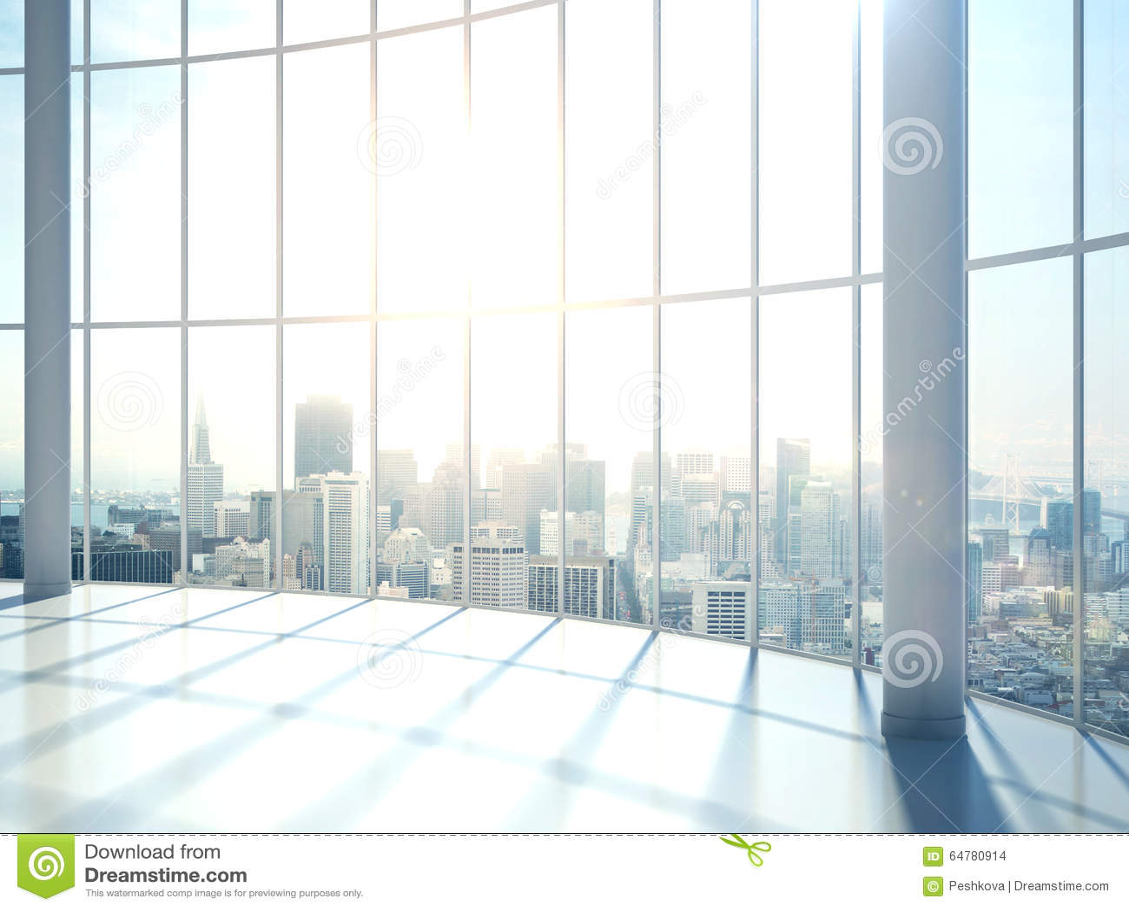 Fenster innenraum  Innenraum Mit Großem Fenster Stock Abbildung - Bild: 64780914