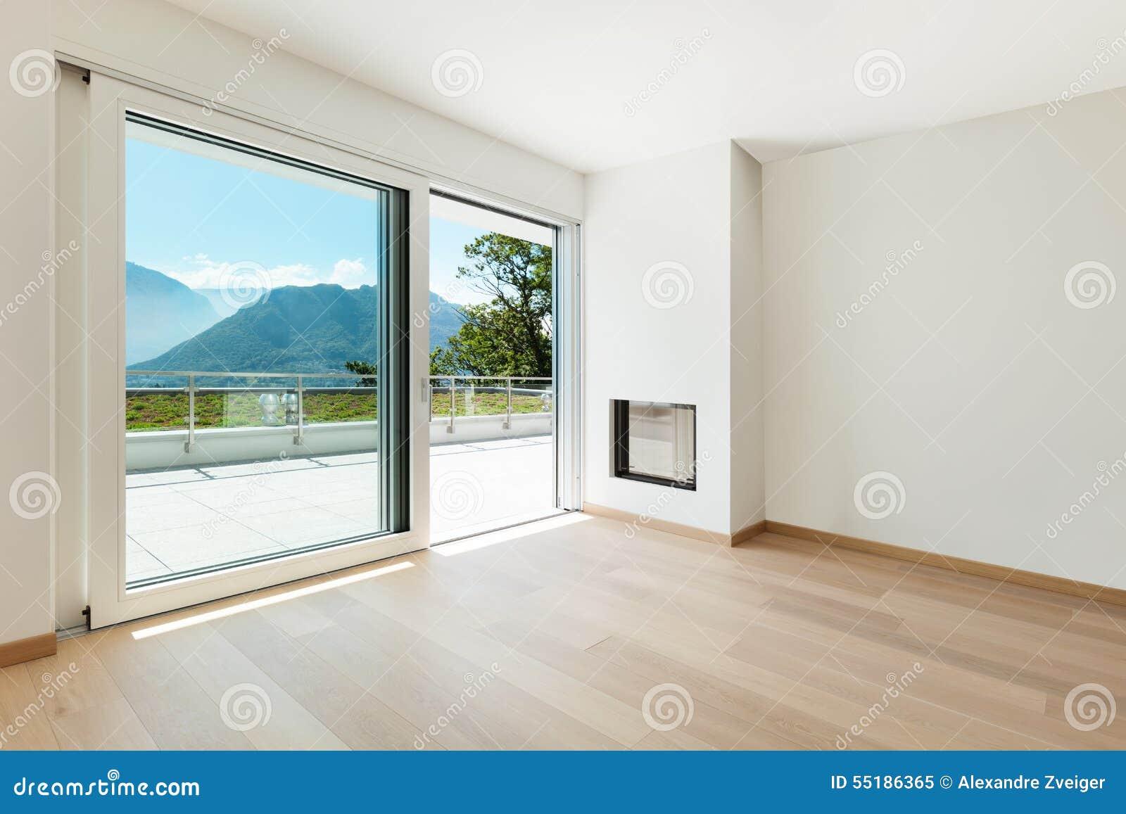 Innenraum, modernes Haus stockbild. Bild von leuchte - 55186365