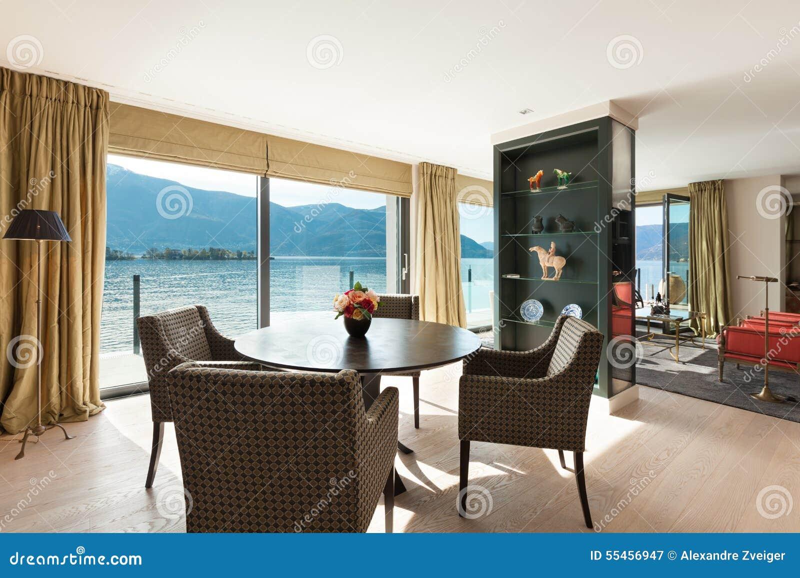 Schöne Esszimmer | Innenraum Schones Esszimmer Stockbild Bild Von Luxus Innen 55456947