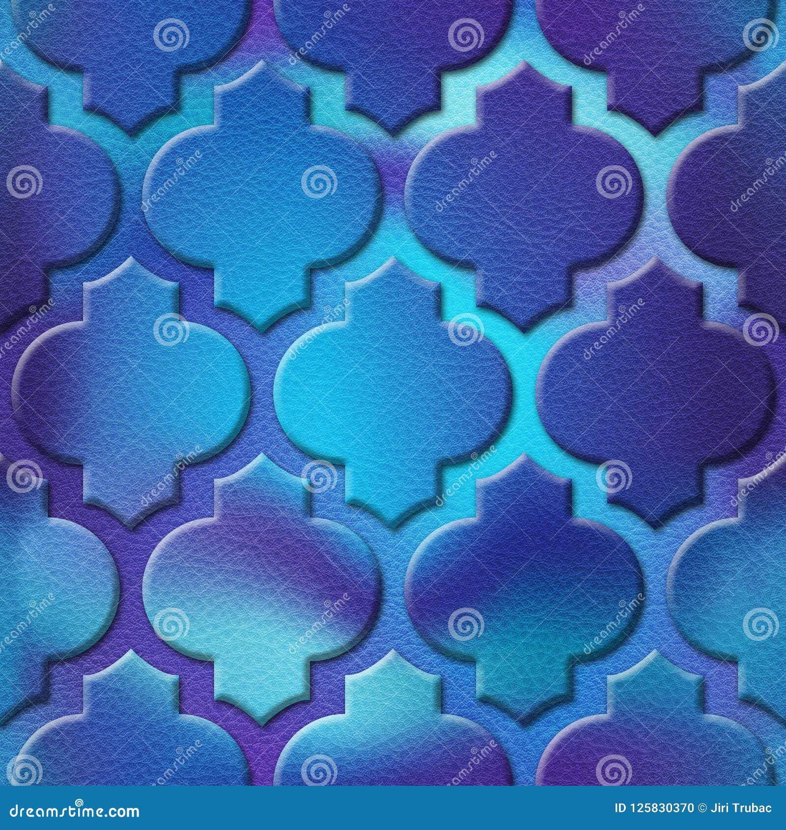Innenwandmuster - abstraktes Dekorationsmaterial - arabischer Dekor - geometrische Muster