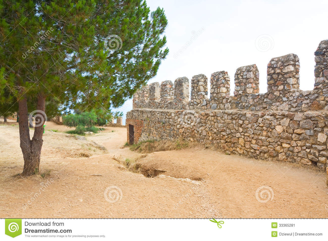 Inner Castle (Ic Kale), Alanya, Turkey Stock Image - Image ...