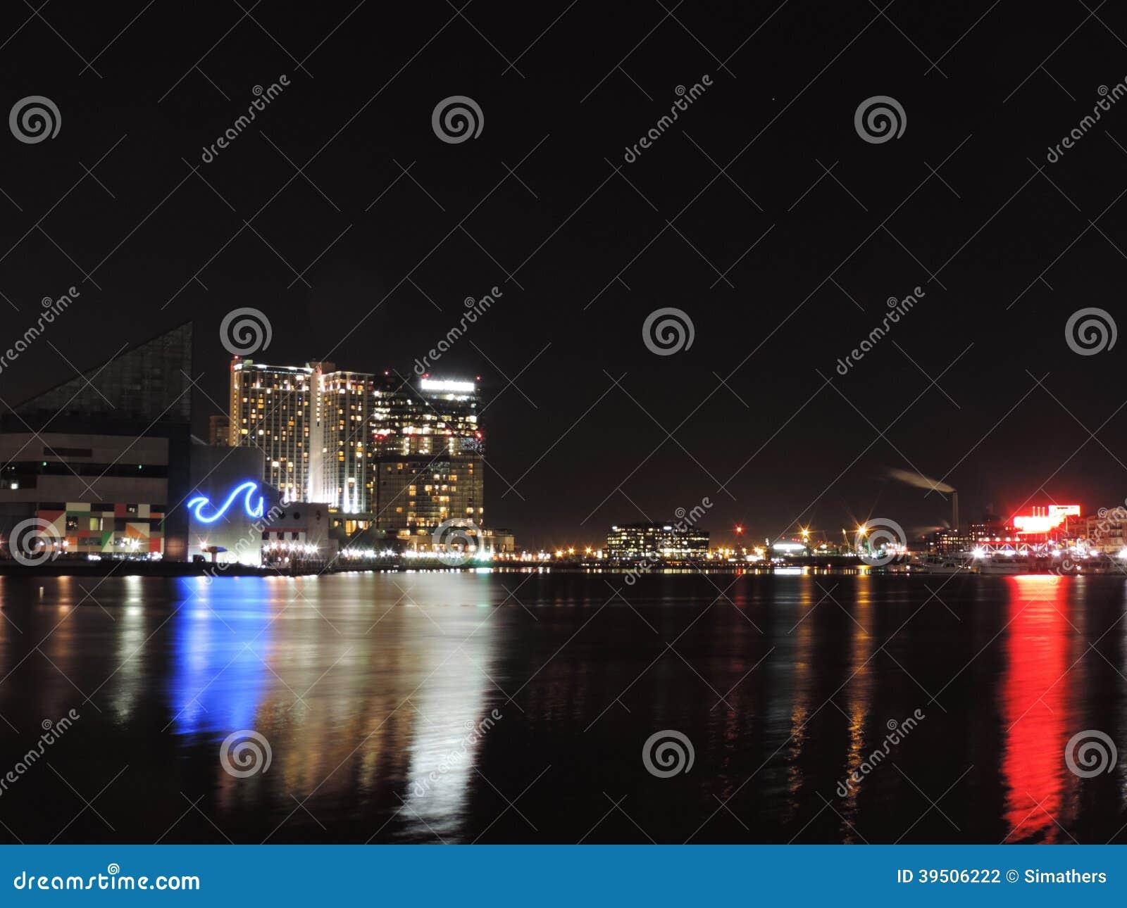 Inner Harbor at Night