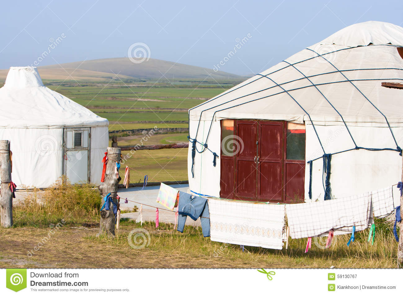 Modern Mongolian Yurt in the Countryside of Ulanhot, Inner ... |Inner Mongolia Housing