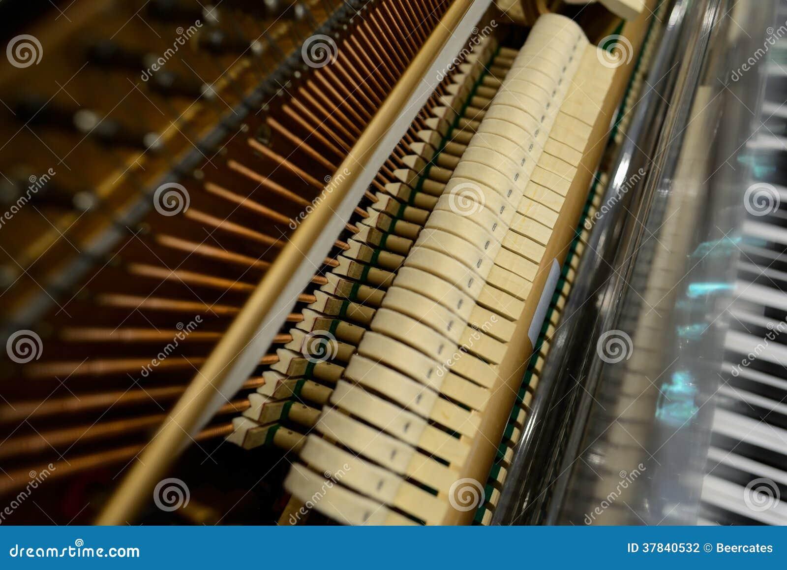 Innere Struktur Des Klaviers Stockfoto - Bild von draht, inside ...